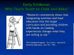 early evidence why teach youth to cook and bake