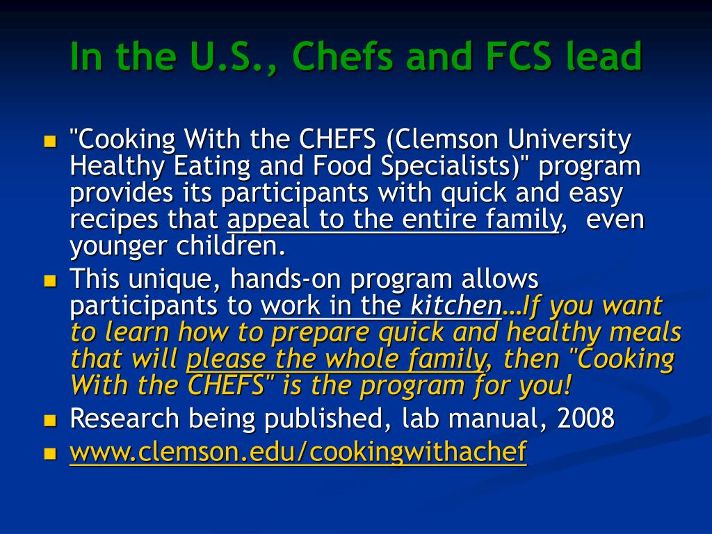 In the U.S., Chefs and FCS lead