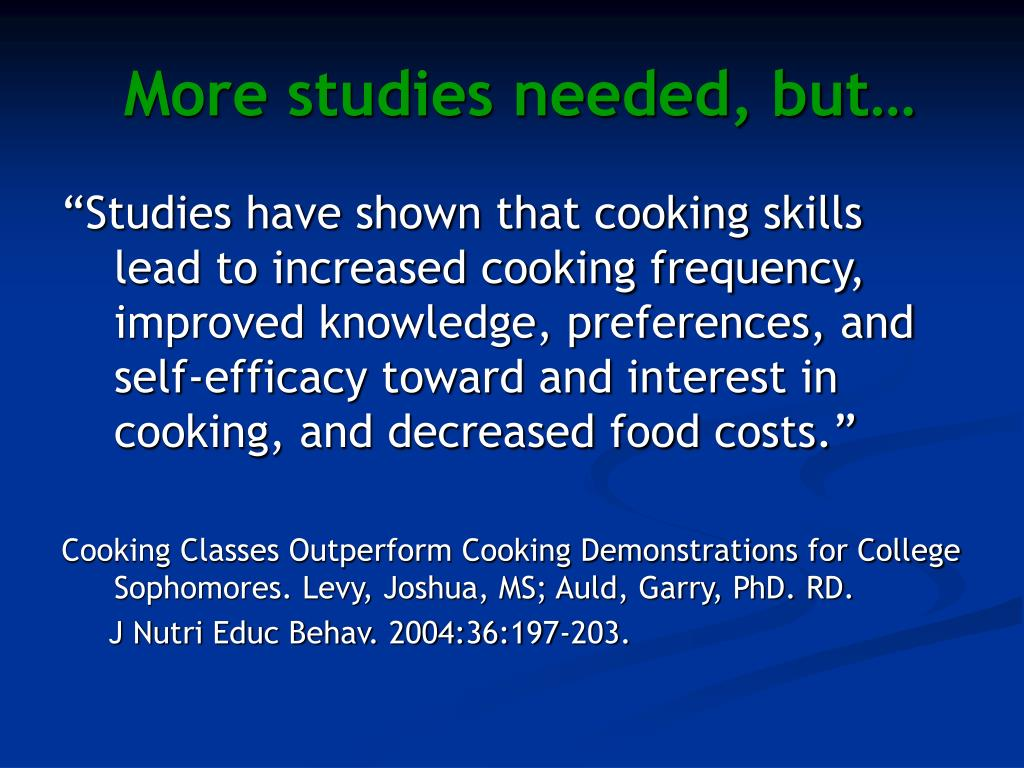 More studies needed, but…