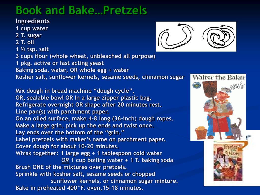 Book and Bake…Pretzels