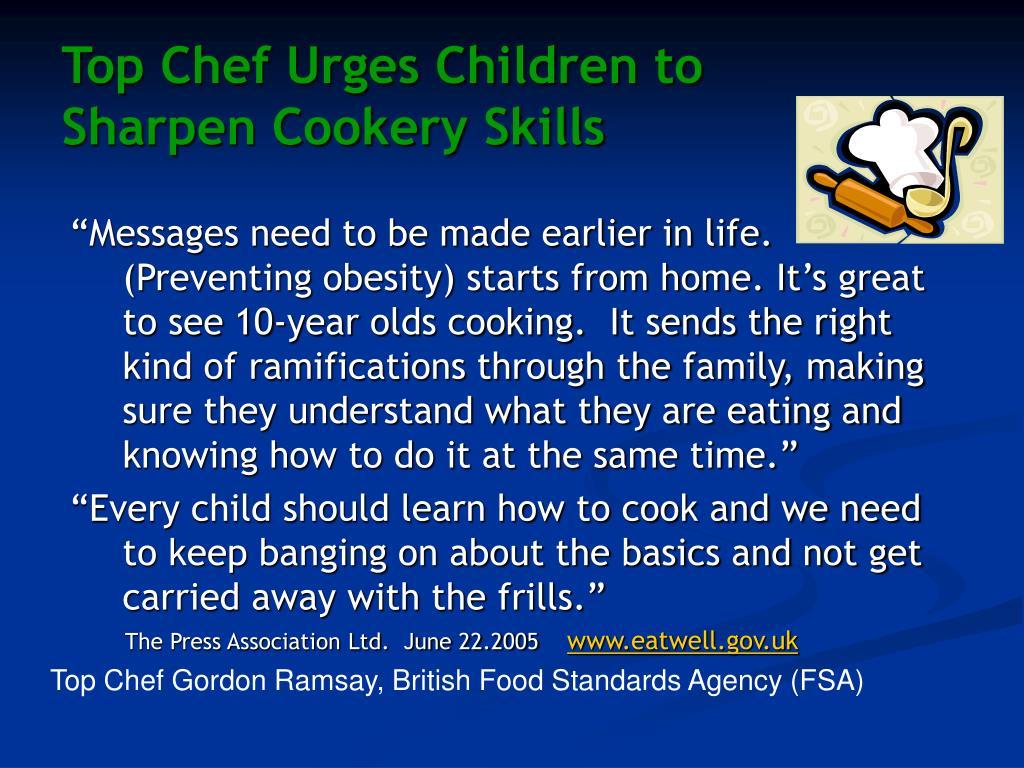 Top Chef Urges Children to
