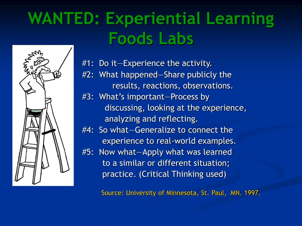 WANTED: Experiential Learning Foods Labs