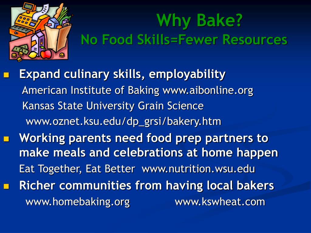 Why Bake?