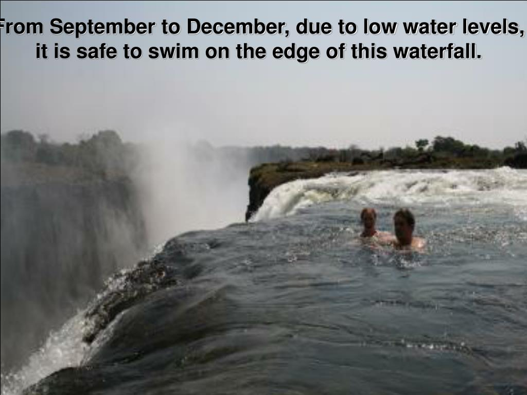 From September to December, due to low water levels,