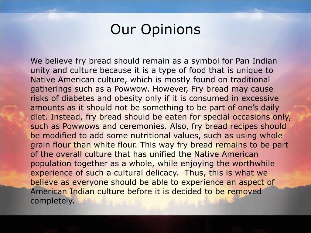 Our Opinions