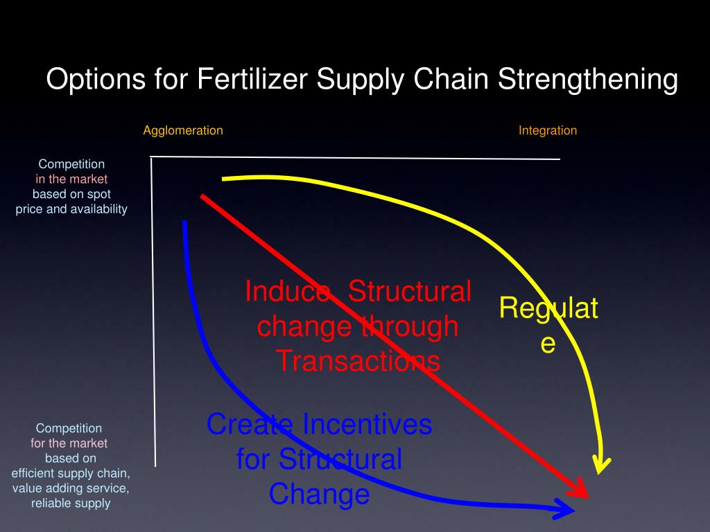 Options for Fertilizer Supply Chain Strengthening