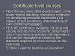 certificate level courses4