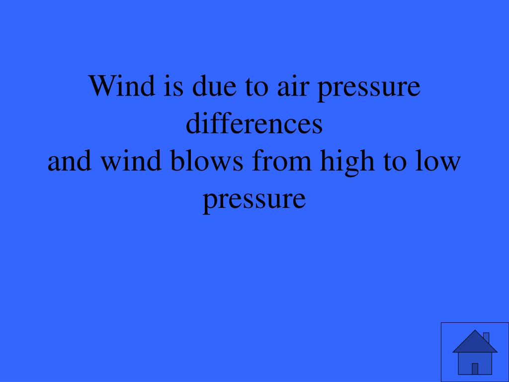 Wind is due to air pressure differences