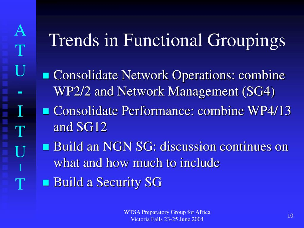 Trends in Functional Groupings