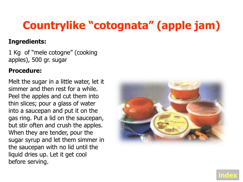 "Countrylike ""cotognata"" (apple jam)"