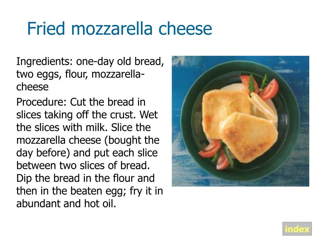 Fried mozzarella cheese