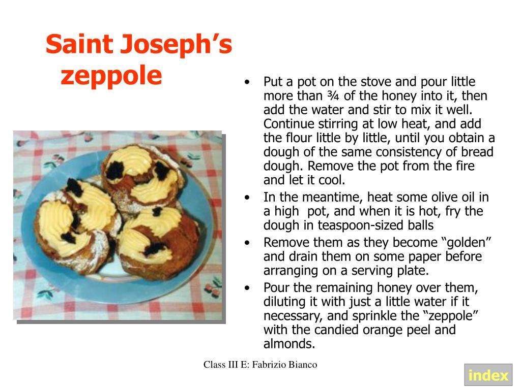 Saint Joseph's zeppole
