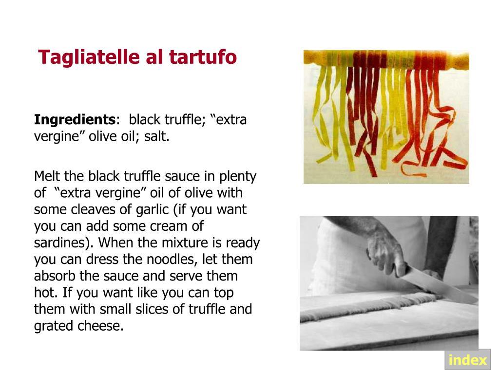 Tagliatelle al tartufo