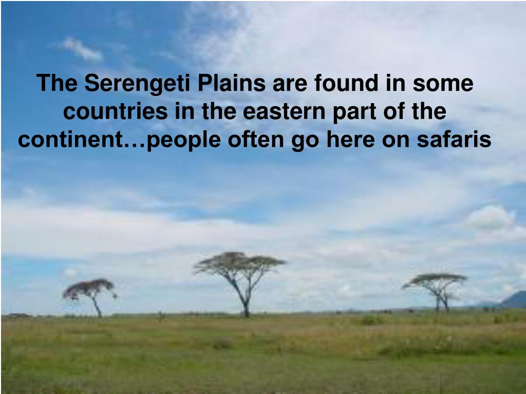The Serengeti Plains are found in some