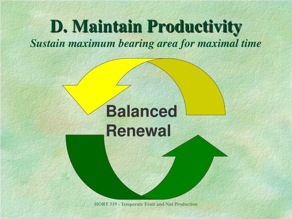 Balanced Renewal