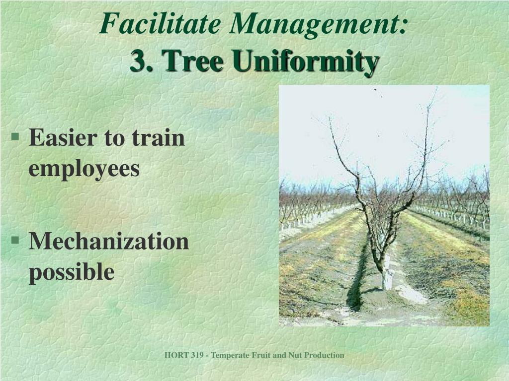 Facilitate Management: