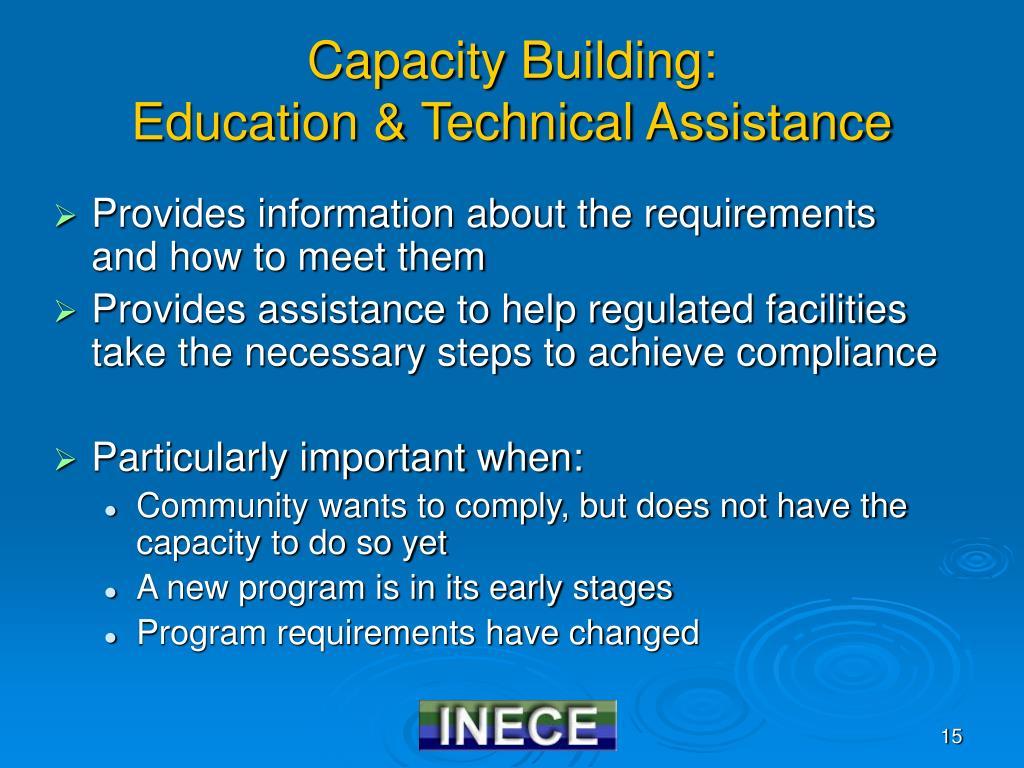 Capacity Building: