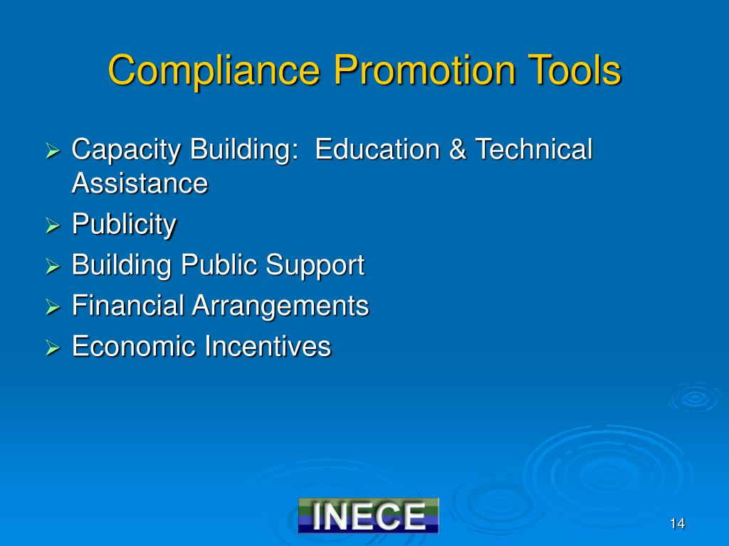 Compliance Promotion Tools
