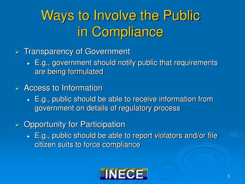 Ways to Involve the Public
