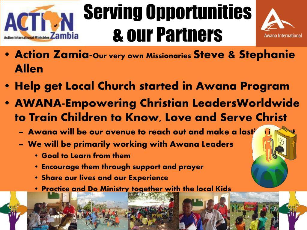 Serving Opportunities
