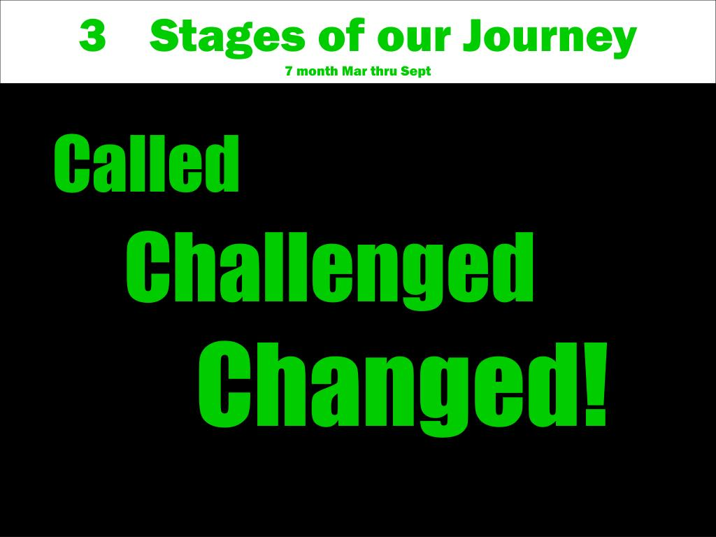 Stages of our Journey