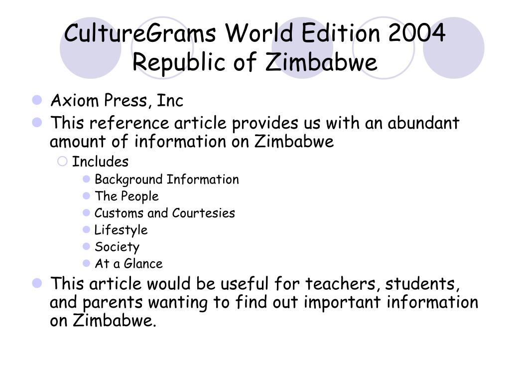 CultureGrams World Edition 2004