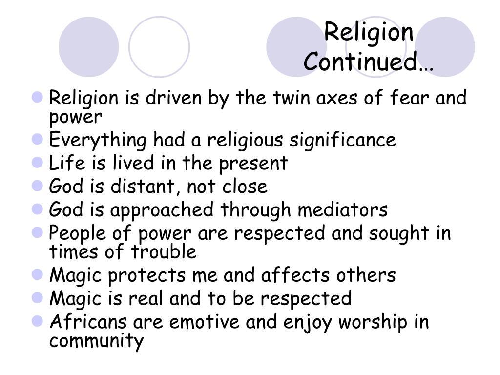 Religion Continued…