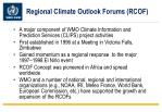 regional climate outlook forums rcof