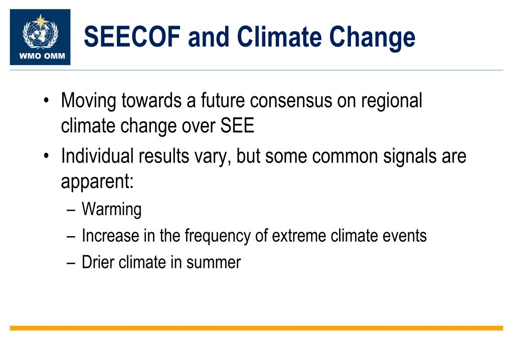 SEECOF and Climate Change