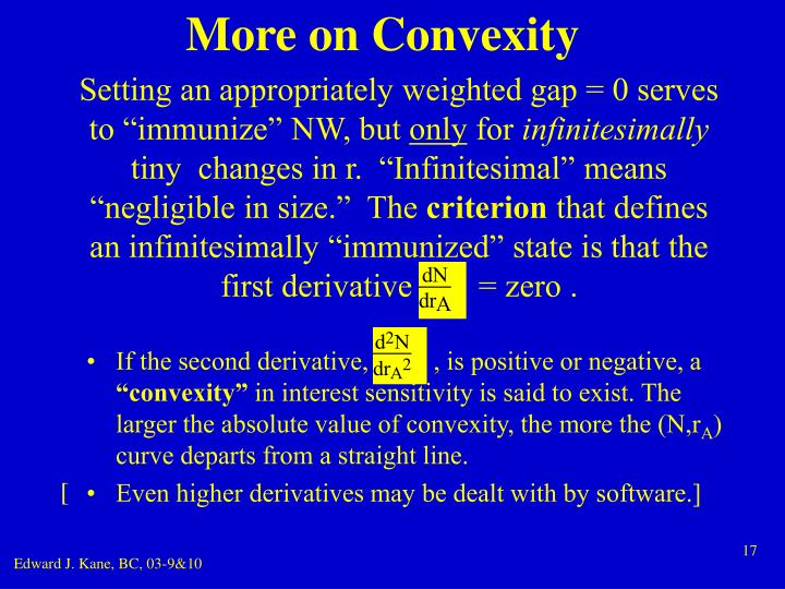 More on Convexity