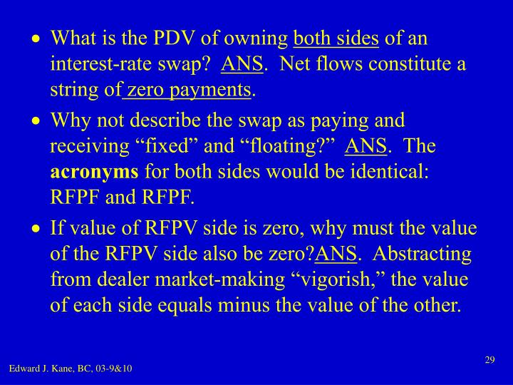 What is the PDV of owning