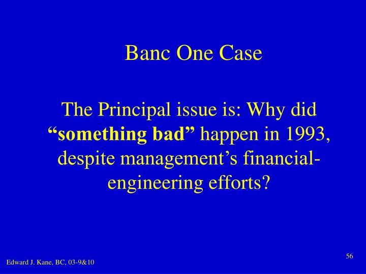 Banc One Case