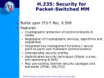 h 235 security for packet switched mm