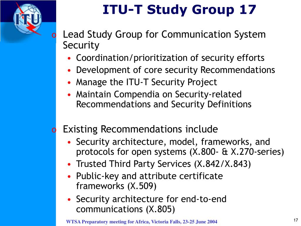 ITU-T Study Group 17