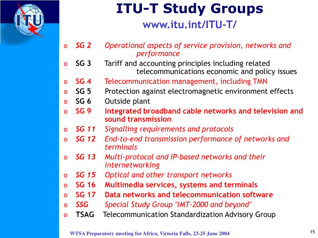 ITU-T Study Groups