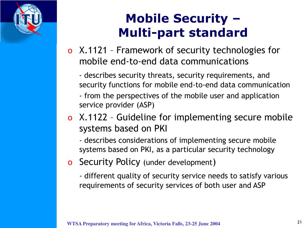 Mobile Security –