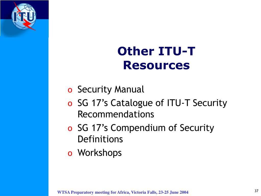Other ITU-T