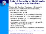 q g 16 security of multimedia systems and services