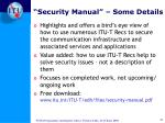 security manual some details