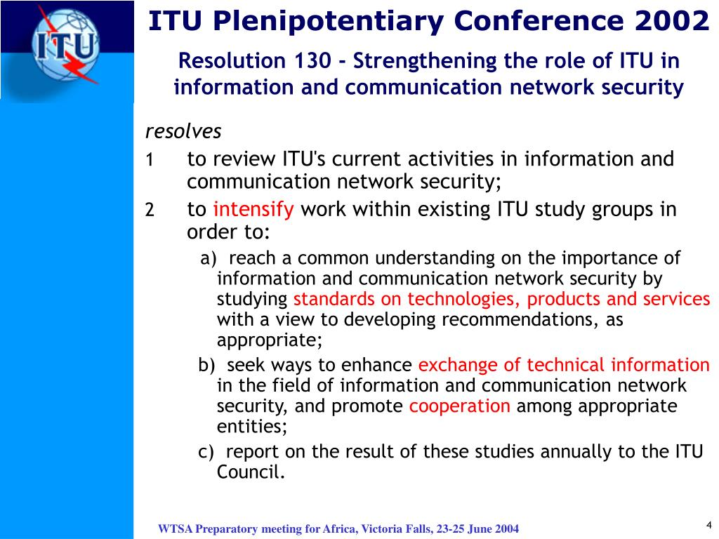 ITU Plenipotentiary Conference 2002