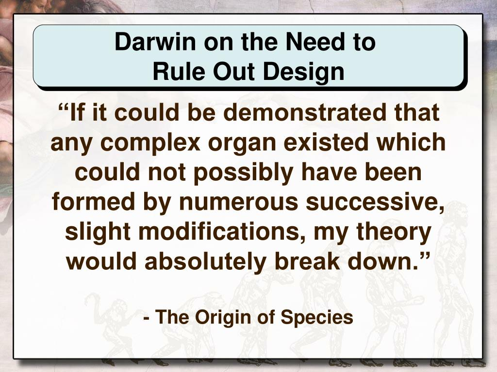 Darwin on the Need to