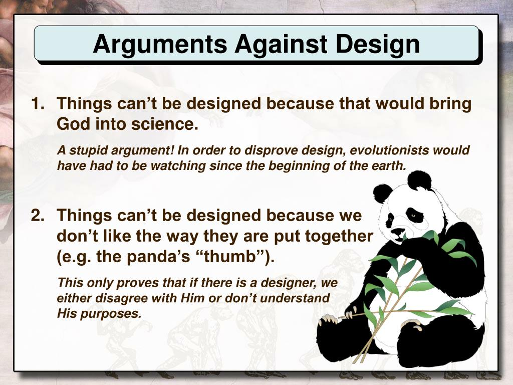 Arguments Against Design