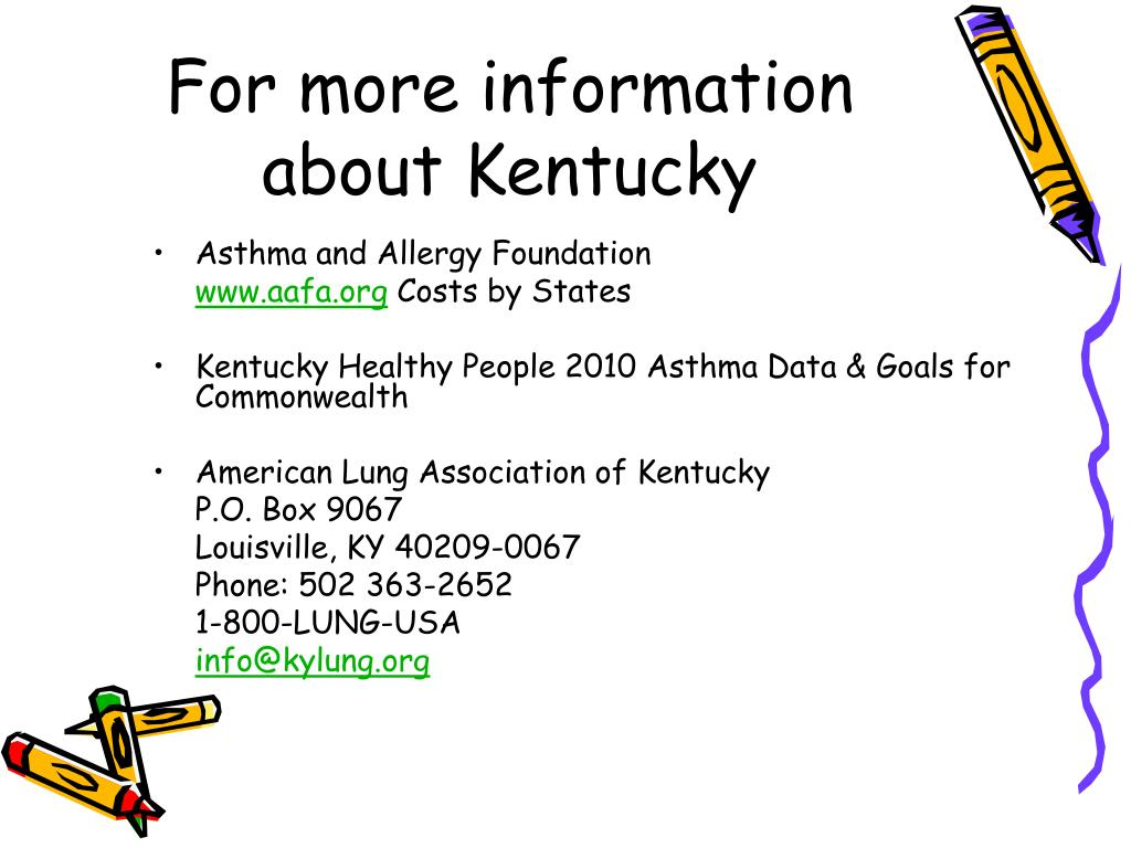 For more information about Kentucky