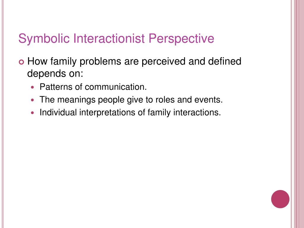 17 Symbolic Interactionist Theory On The Family On Family The