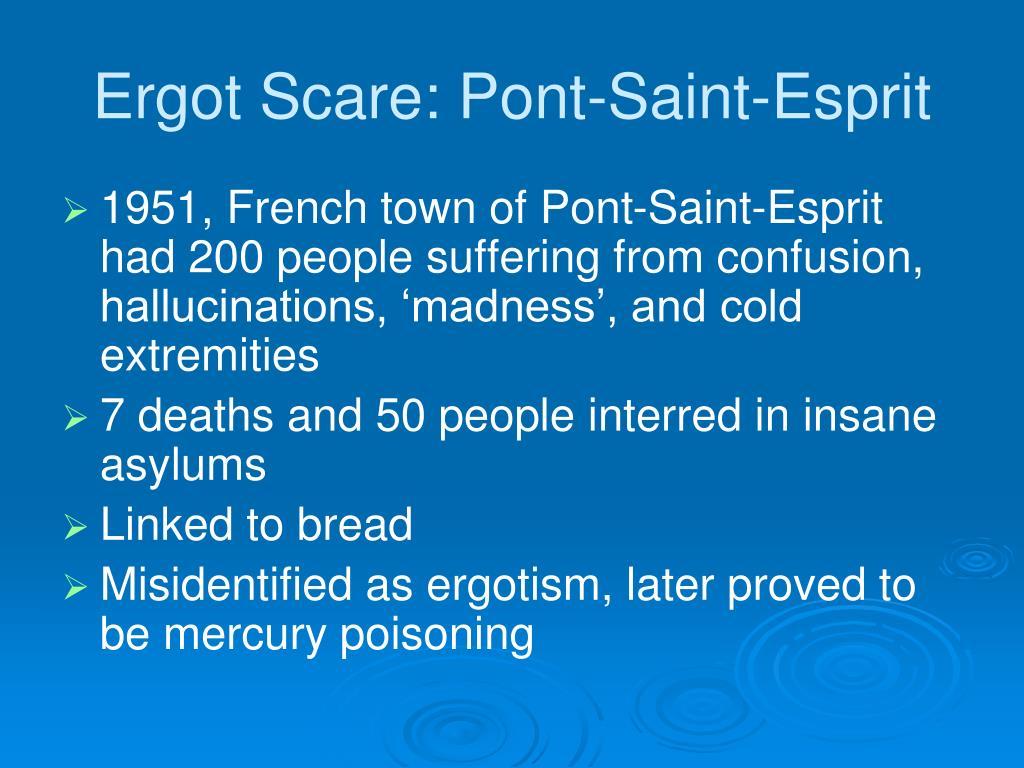 Ergot Scare: Pont-Saint-Esprit