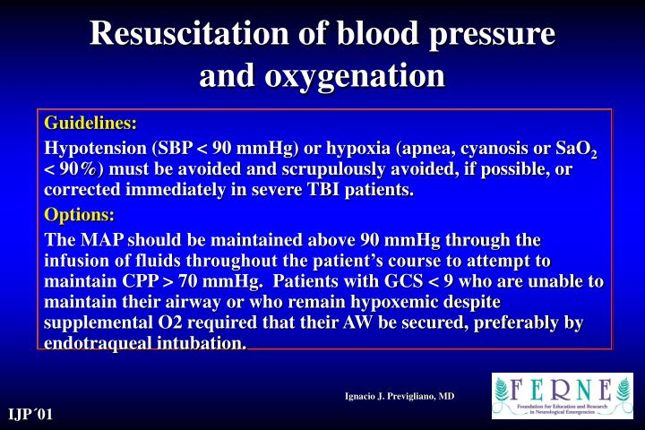 Resuscitation of blood pressure and oxygenation