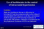 use of barbiturates in the control of intracranial hypertension