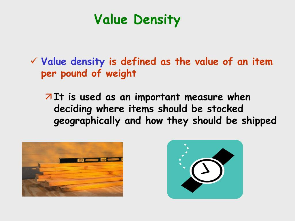 Value Density