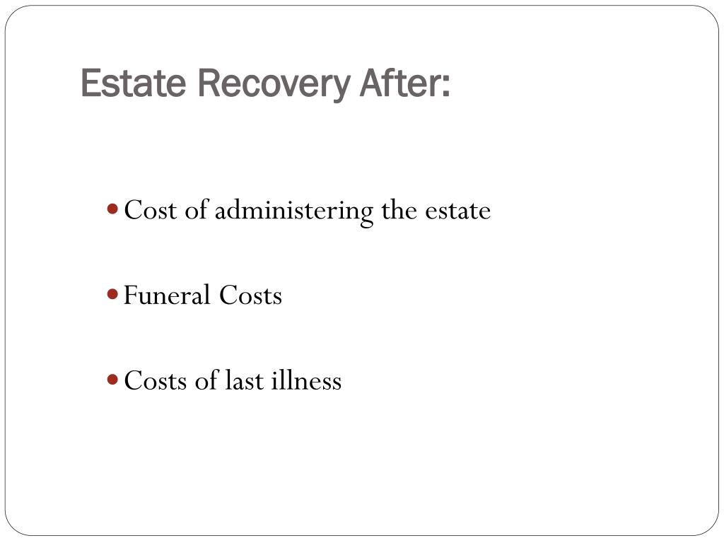 Estate Recovery After: