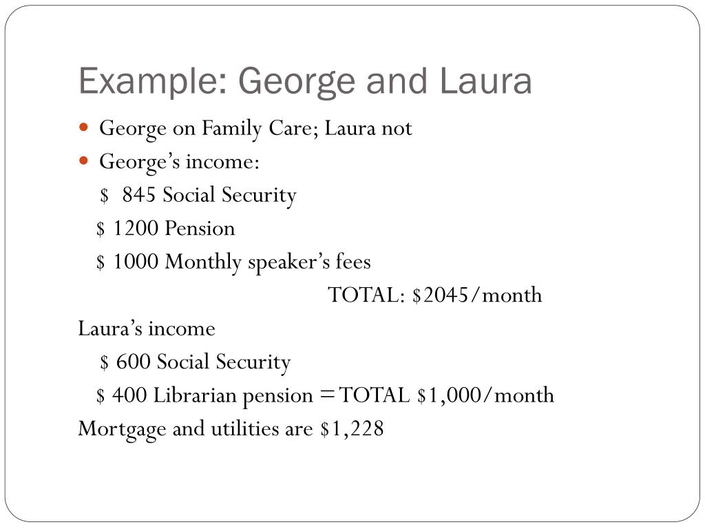 Example: George and Laura